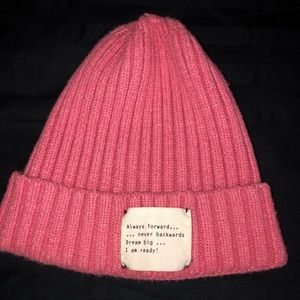 Pink Beanie with encouragement!